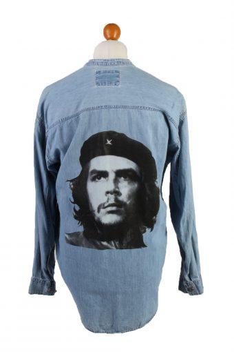 Levi's Che Guevara Printed Denim Shirt Long Sleeve Remake Light Blue M