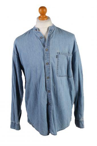 Vintage Levis Che Guevara Printed Unisex Long Sleeve Denim Shirt Reworked M Light Blue SH3980-133711