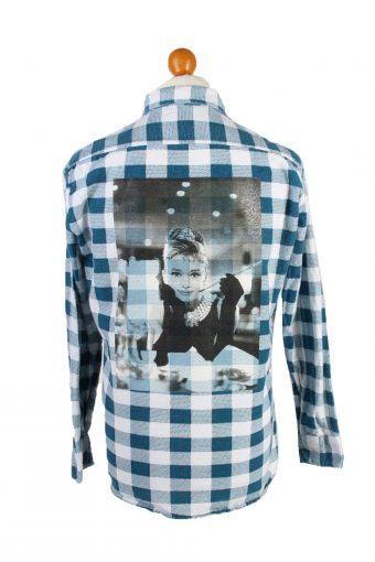Flannel Shirt Audrey Hepburn Printed Remake Long Sleeve Multi S