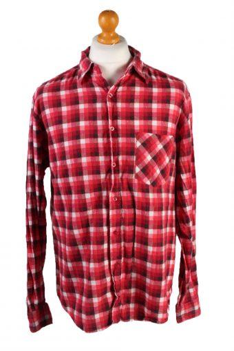 "Vintage Zeemann Freddie Mercury Unisex Long Sleeve Flannel Shirt Reworked Chest 48"" Red SH3997-133779"