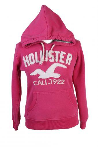Hollister Hoodie Sweatshirt Top Womens Pink M