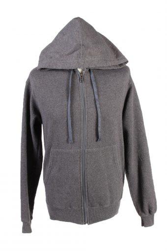 Champion Full Zip Hoodie Sweatshirt Top Grey S