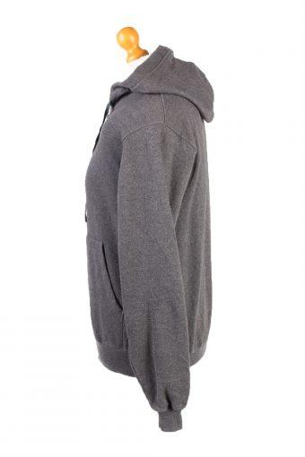 Vintage Champion Full Zip Hoodie Sweatshirt Top Unisex S Grey -SW2598-133610