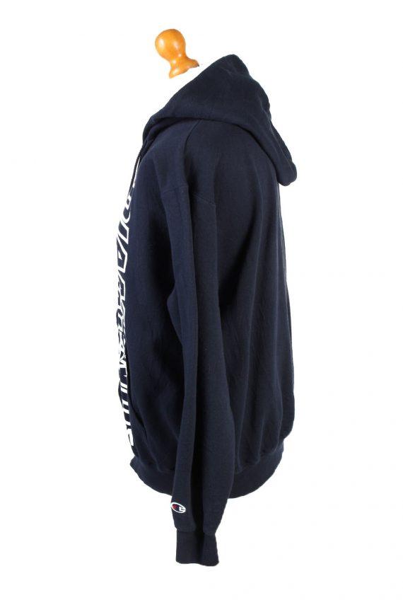 Vintage Champion Full Zip Hoodie Sweatshirt Top Unisex L Navy -SW2599-133614