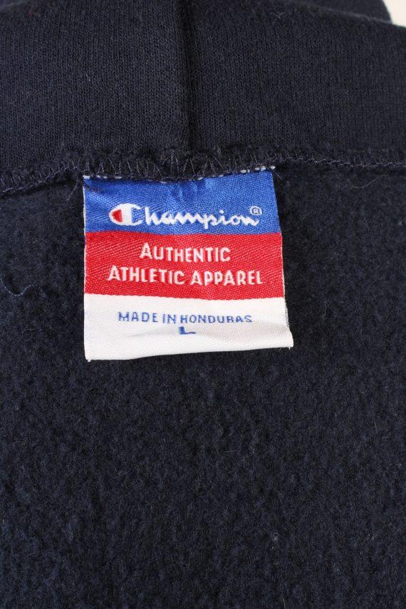 Vintage Champion Full Zip Hoodie Sweatshirt Top Unisex L Navy -SW2599-133616