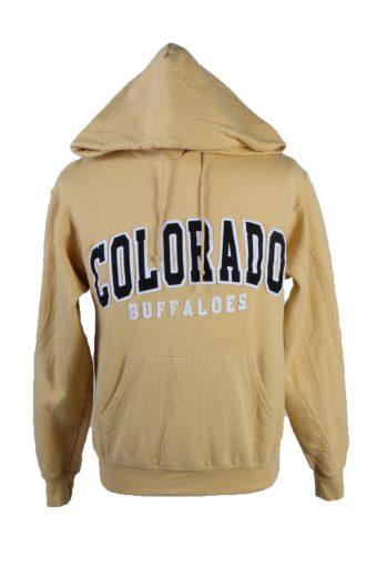 Champion Hoodie Sweatshirt 90s Retro Yellow S