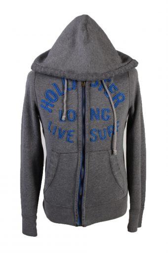 Hollister Full Zip Hoodie Sweatshirt Track Top Grey S