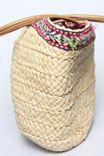 Vintage Summer Straw Knitted Womens Shoulder & Hand Bag Beige BG1147-134990