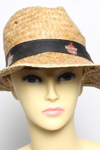 Vintage Womens Summer Straw Trilby Hat