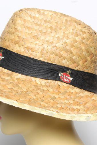 Vintage Womens Summer 100% Straw Trilby Hat Brown HAT1490-135103
