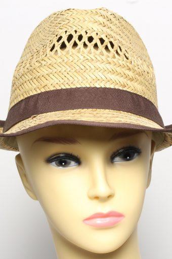 Vintage CA Womens Summer Straw Brimmed Hat