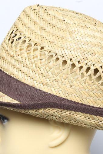 Vintage C&A Womens Summer Straw Brimmed Hat Brown HAT1495-135123
