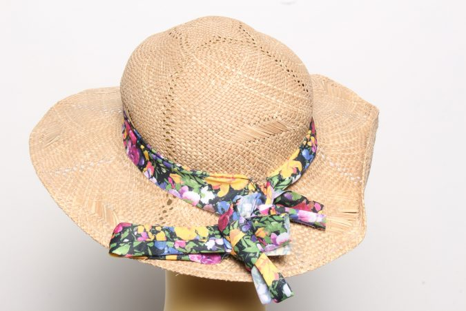 Vintage Womens Summer 100% Straw Trilby Hat Brown HAT1496-135128