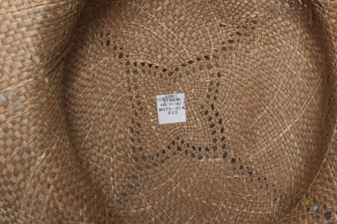 Vintage Womens Summer 100% Straw Trilby Hat Brown HAT1496-135129