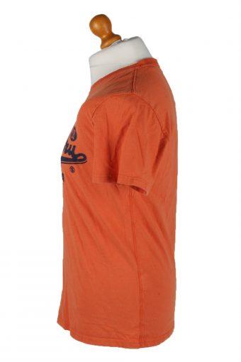 Vintage SuperDry Mens T-Shirt Tee Crew Neck L Orange TS397-136199