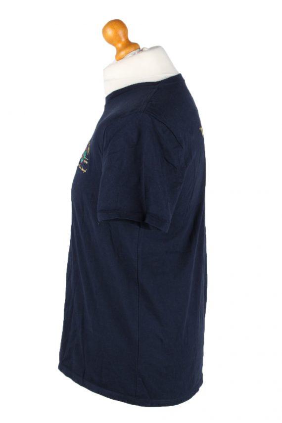 Vintage Tommy Hilfiger Mens T-Shirt Tee Crew Neck M Navy TS407-136239