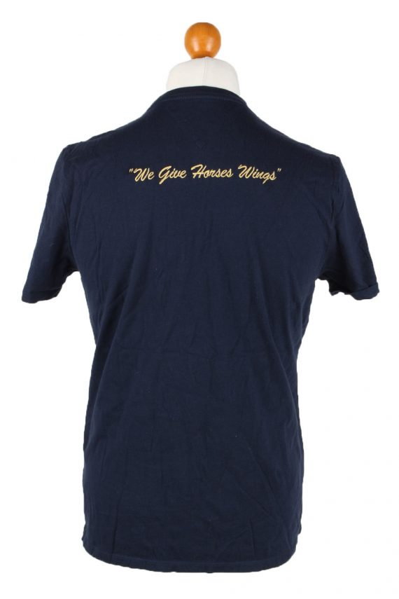 Vintage Tommy Hilfiger Mens T-Shirt Tee Crew Neck M Navy TS407-136240