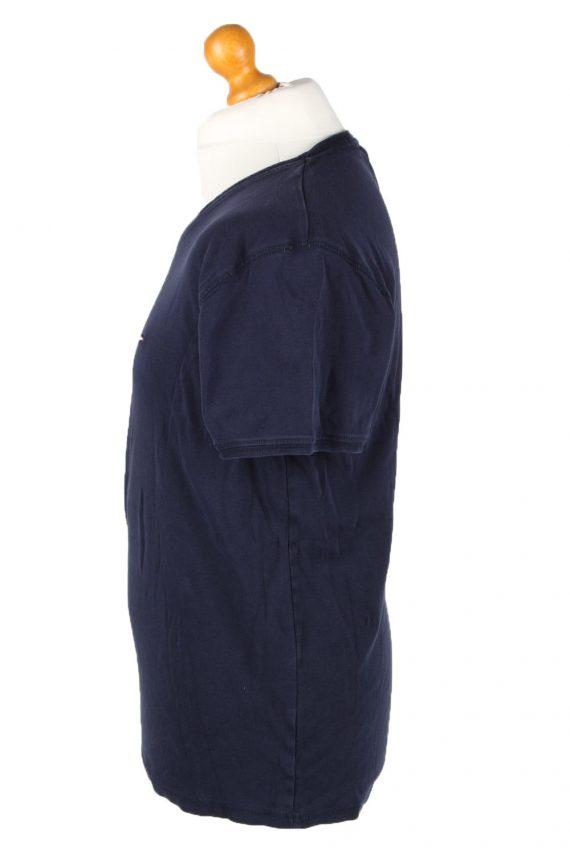 Vintage Tommy Hilfiger Mens T-Shirt Tee V Neck Navy TS409-136247