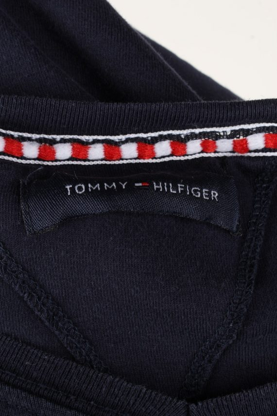 Vintage Tommy Hilfiger Mens T-Shirt Tee V Neck Navy TS409-136249