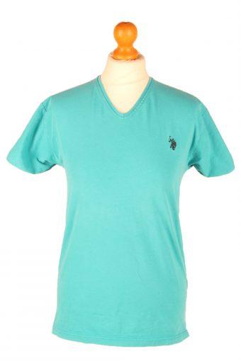 Polo Ralph Lauren Womens T-Shirt Tee V Neck Turquoise L