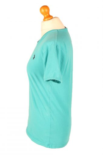 Vintage Polo Ralph Lauren Womens T-Shirt Tee V Neck L Turquoise TS415-136288