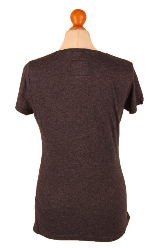 Vintage SuperDry Womens T-Shirt Tee Crew Neck M Grey TS422-136317