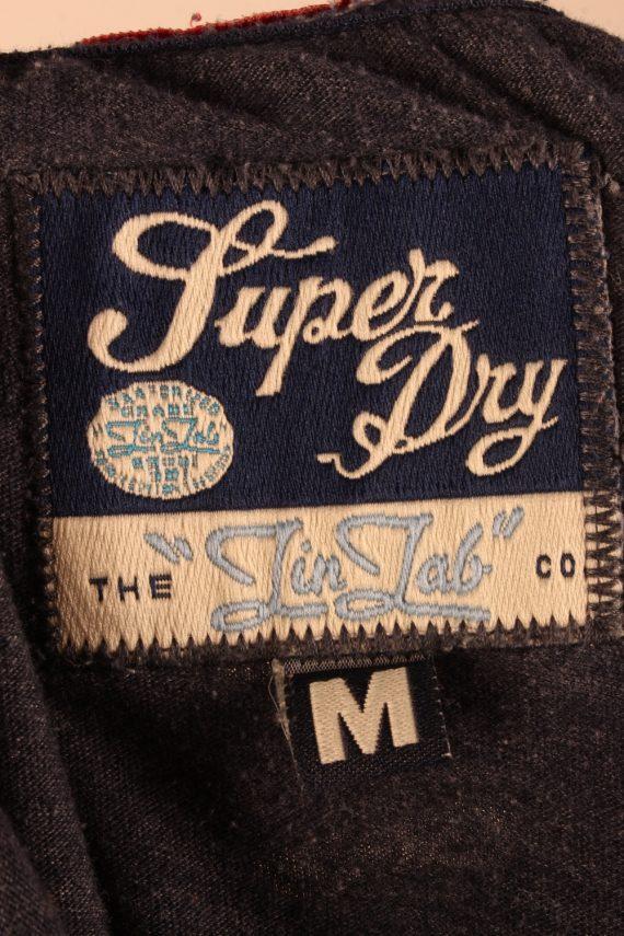 Vintage SuperDry Womens T-Shirt Tee Crew Neck M Grey TS422-136318