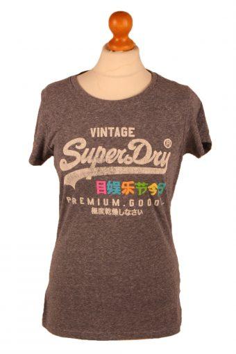 SuperDry Womens T-Shirt Tee Crew Neck Grey M