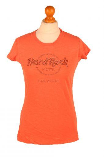 Hard Rock Cafe Womens T-Shirt Tee Crew Neck Orange XL