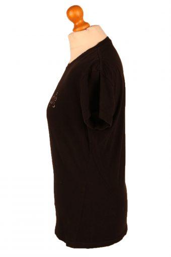 Vintage Hard Rock Cafe Womens T-Shirt Tee Crew Neck L Black TS431-136352