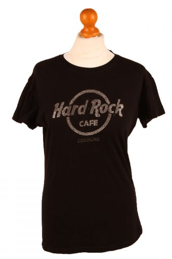 Hard Rock Cafe Womens T-Shirt Tee Crew Neck Black L