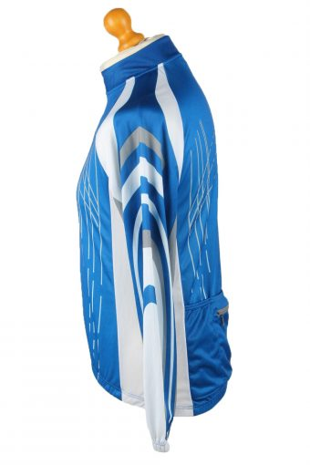 Vintage Active Touch Mens Cycling Jersey Long Sleeve Half Zip With Back Pockets S Blue CW0779-140017