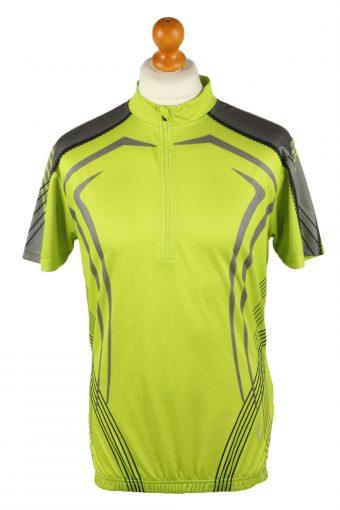 Cycling Shirt Jersey 90s Retro Lime L