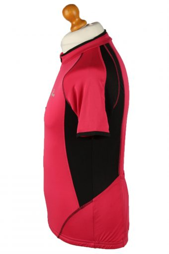 Vintage Rogelli Unisex Cycling Jersey Short Sleeve Half Zip With Back Pockets L Pink CW0783-140033