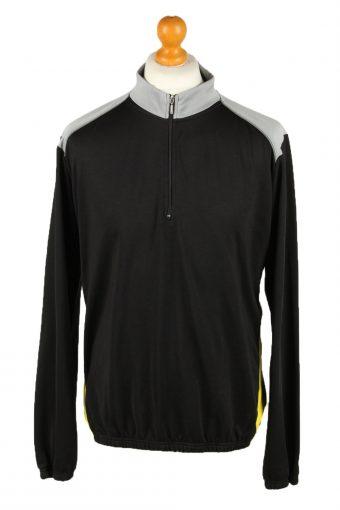 Cycling Shirt Jersey 90s Retro Black XXL