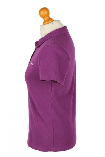 Vintage Reebok Womens Polo Shirt Top Short Sleeve Plain M Purple -PT1246-136553