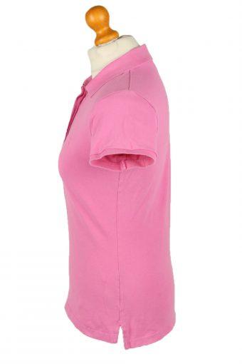 Vintage Gant Womens Polo Shirt Top Short Sleeve Plain M Pink -PT1248-136561