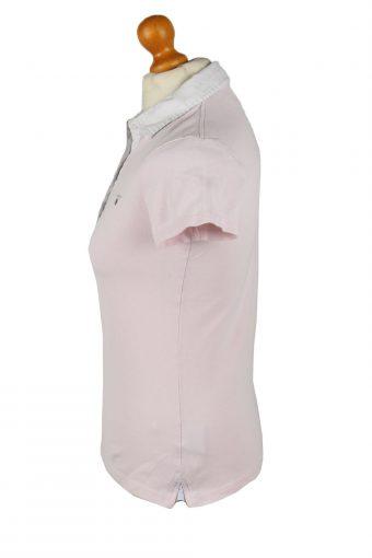 Vintage Gant Womens Polo Shirt Top Short Sleeve Plain S Light Pink -PT1249-136565