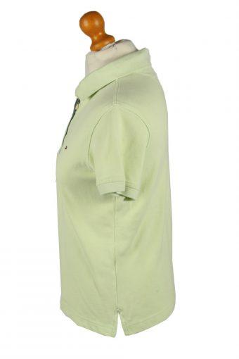 Vintage Tommy Hilfiger Womens Polo Shirt Top Short Sleeve Plain L Light Green -PT1254-136585