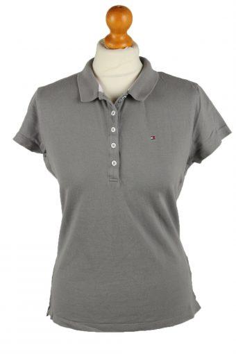 Tommy Hilfiger Polo Shirt 90s Retro Grey L