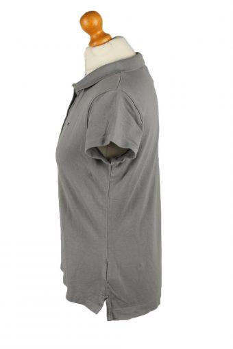 Vintage Tommy Hilfiger Womens Polo Shirt Top Short Sleeve Plain Slim Fit L Green -PT1255-136589