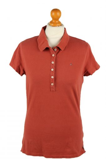 Tommy Hilfiger Polo Shirt 90s Retro Terra Cotta L
