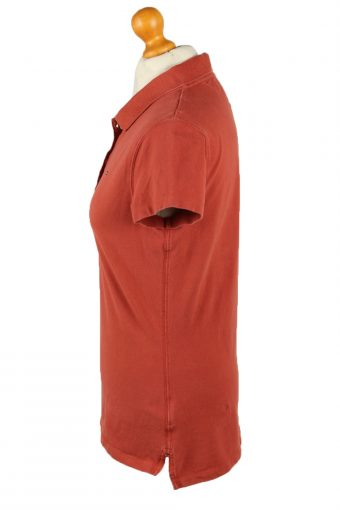 Vintage Tommy Hilfiger Womens Polo Shirt Top Short Sleeve Plain Slim Fit L Terra Cotta -PT1260-136609