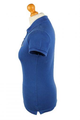 Vintage Lacoste Womens Polo Shirt Top Short Sleeve Plain 38 Blue -PT1267-136637
