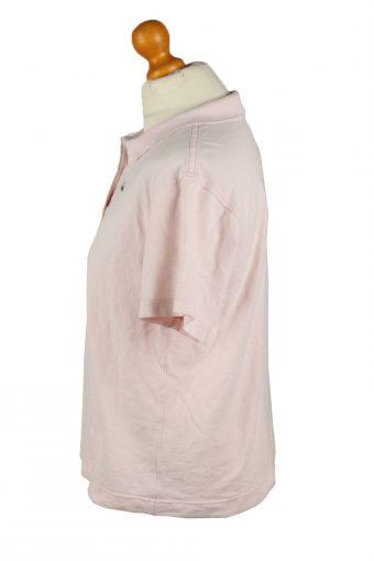 Vintage Lacoste Womens Polo Shirt Top Short Sleeve Plain 42 Light Pink -PT1268-136641