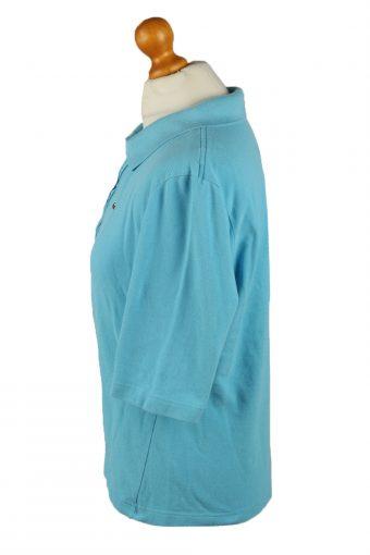 Vintage Lacoste Womens Polo Shirt Top Short Sleeve Plain 48 Turquoise -PT1270-136649