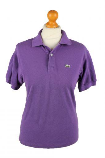 Lacoste Polo Shirt 90s Retro Purple M