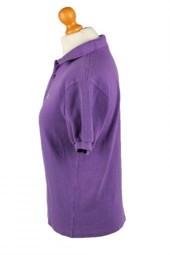 Vintage Lacoste Womens Polo Shirt Top Short Sleeve Plain 16 Purple -PT1274-136665