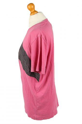 Vintage Puma Womens T-Shirt Tee Crew Neck L Pink TS443-136431