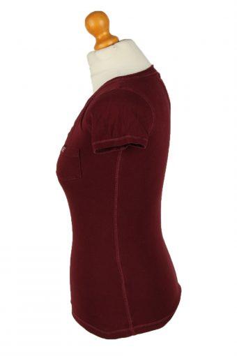 Vintage Abercrombie & Finch Womens T-Shirt Tee Deep V Neck XS Boerdaux TS445-136439